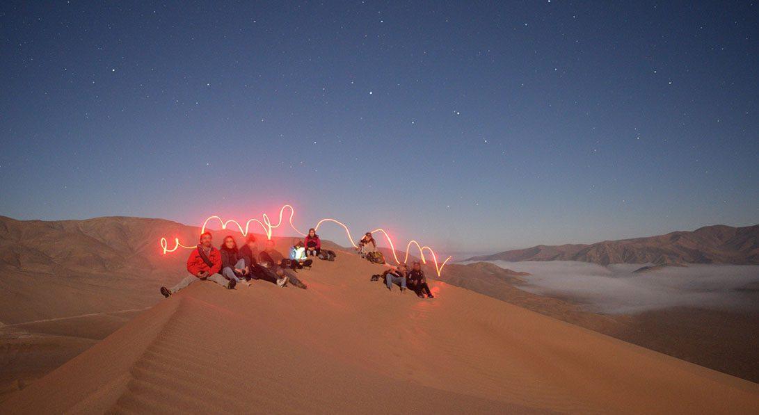 caminata duna luna llena