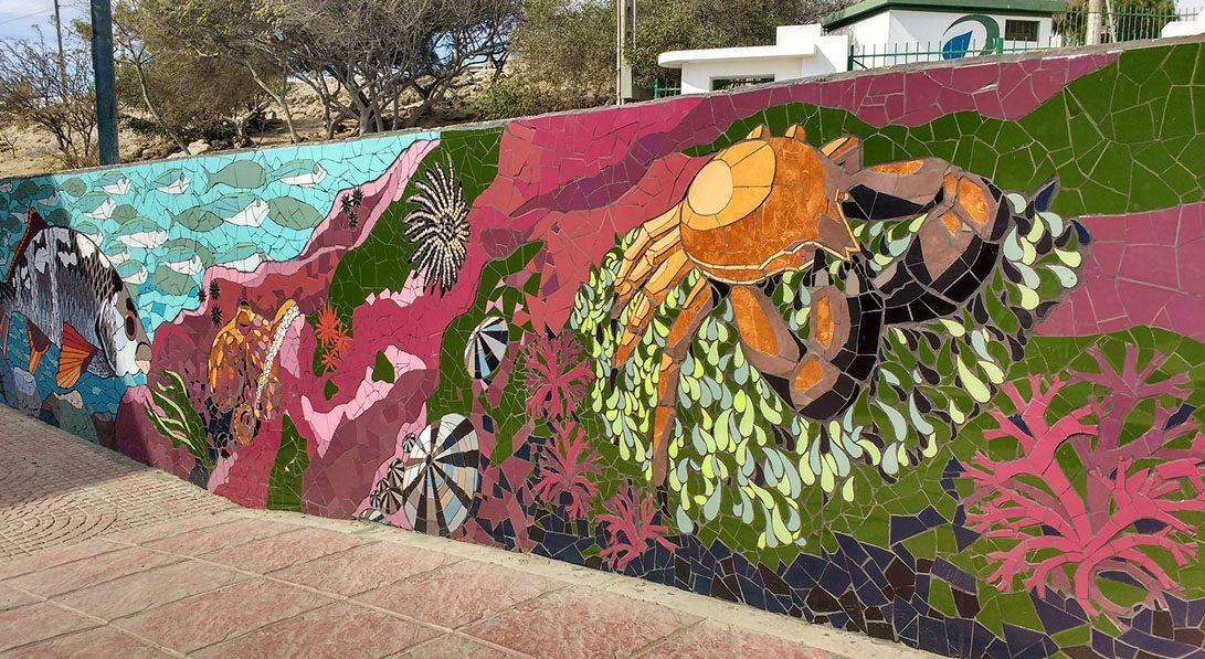 mosaico mural caldera