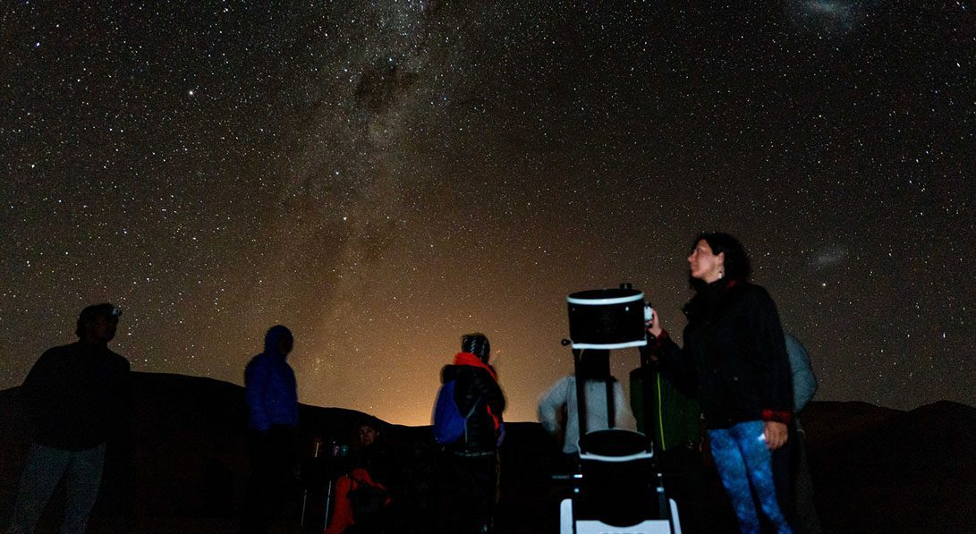tour astronomico telescopio via lactea